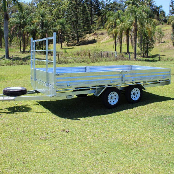 14x7 Flat Top Galvanised Trailer   Construction Machinery For Sale   Australia   Machinery Direct