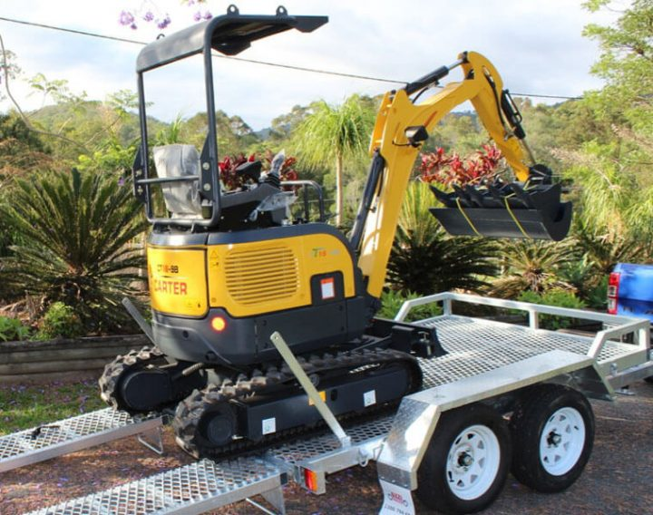 Carter CT16 Mini Excavator + 3.5T Plant Trailer