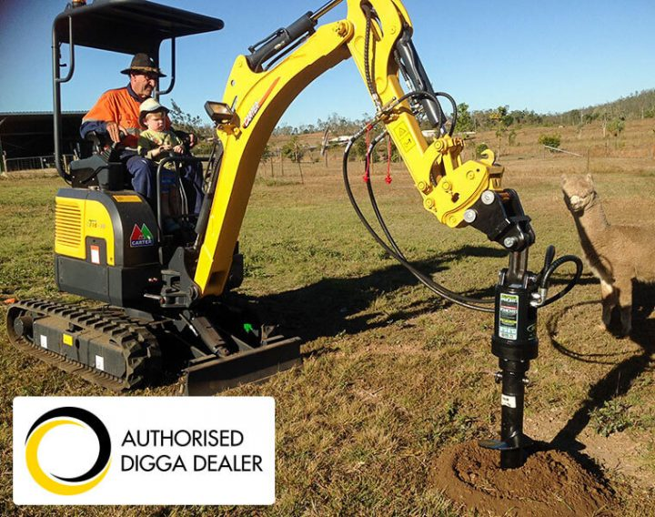 Carter CT16 Mini Excavator with Digga Auger and Auger Drive