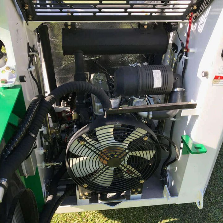 Wecan 650F Skid Steer engine and fan.