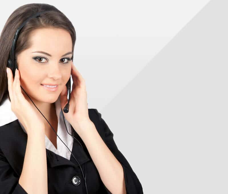 Woman on phone banner image.