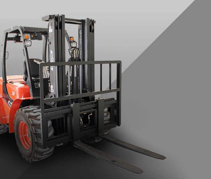 All-terrain forklift shop banner.