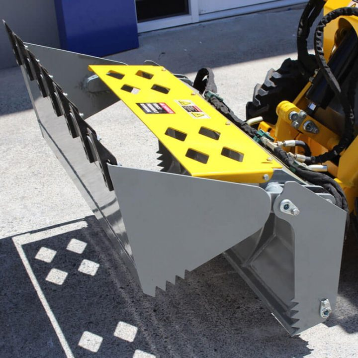 Ozziquip Puma Mini Loader bucket attachment.
