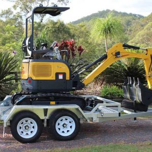 Carter CT16 Mini Excavator with Trailer | Construction Machinery For Sale | Australia | Machinery Direct