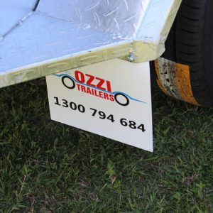 Ozzitrailer 10x5 Tandem Axle Box Trailer close of weld points.