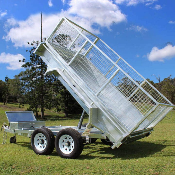 10x6 Galvanised Hydraulic Tipping Trailer | Construction Machinery For Sale | Australia | Machinery Direct