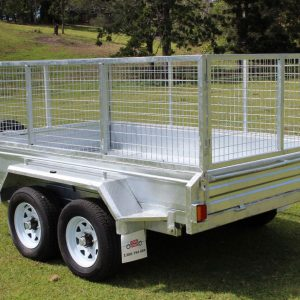 10x6 Galvanised Hydraulic Tipping Trailer close up closed.