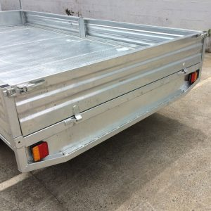 14x7 Flat Top Galvanised Trailer back with lights.