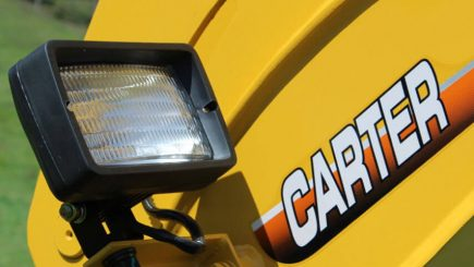 Carter Excavator CT16 close up of light.