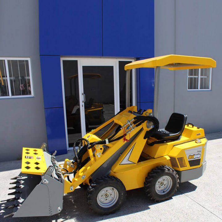 Ozziquip Puma Mini Loader Fencers with bucket.