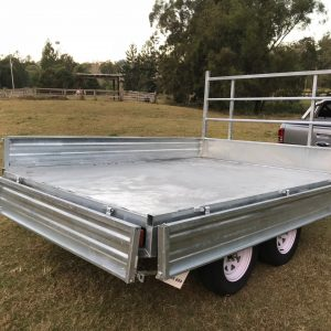 10x7 Flat Top Trailer side view open.