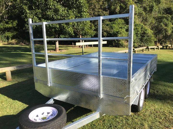 10x7 Flat Top Trailer front view.