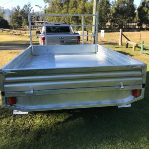 10x7 Flat Top Trailer back view.