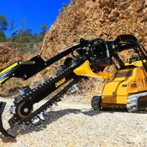 Digga Mini Bigfoot Trencher in use full image.