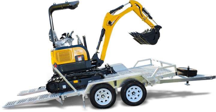 Carter CT16 Mini Excavator with 3.5T Plant Trailer
