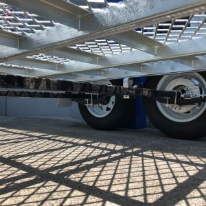 10x5 Plant Trailer 2000 kg wheels and undercarriage.