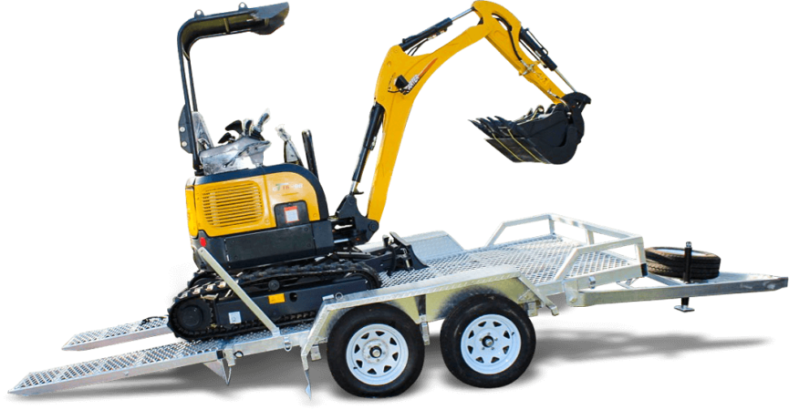 Carter CT16 Mini Excavator with Plant Trailer