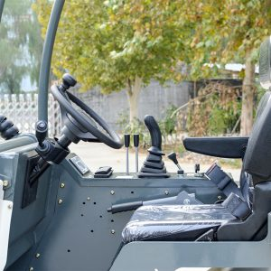 Ozziquip AL40 Mini Articulated Wheel Loader drivers seat.