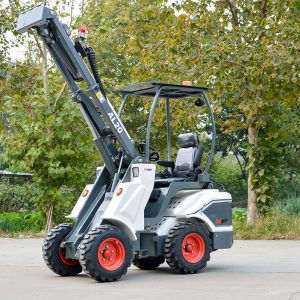 Ozziquip AL40 Mini Articulated Wheel Loader extended arm max.